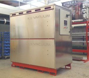 Ice Vacuum system for vacuum drying of leather in tanneries