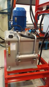 Hydraulic unit for Mec Giant vacuum dryer for leather tannery