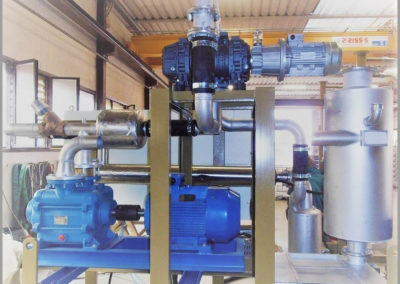 Turbo system for vacuum dryer for leather in tannery