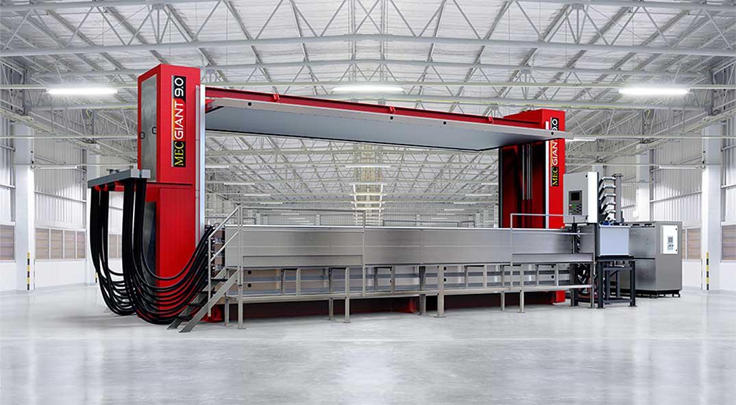 Secador al vacío MecGiant 9034 en fábrica