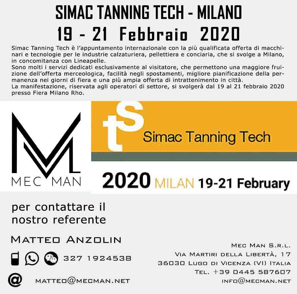 Simac Tanning Tech Milano 2020